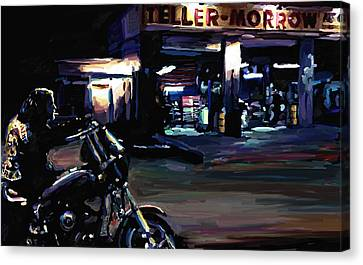 Davidson Canvas Print - Sons Of Anarchy Jax Teller Signed Prints Available At Laartwork.com Coupon Code Kodak by Leon Jimenez