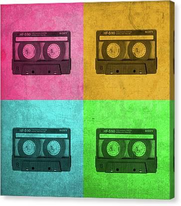 Cassettes Canvas Print - Sony Cassette Tape Walkman Vintage Pop Art by Design Turnpike