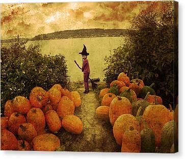 Soon Halloween Canvas Print by Anastasia Michaels