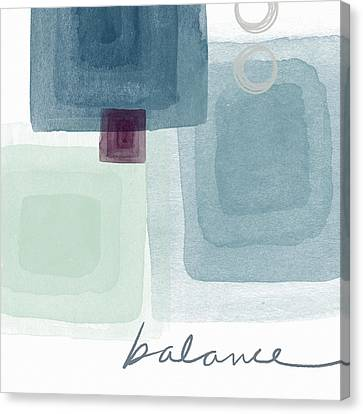 Soothing Balance- Art By Linda Woods Canvas Print