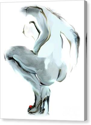 Canvas Print featuring the painting Sophi Squats by Carolyn Weltman