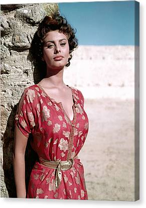 1950s Portraits Canvas Print - Sophia Loren, 1950s by Everett