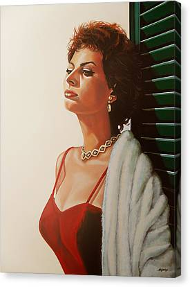 Sophia Loren  Canvas Print by Paul Meijering