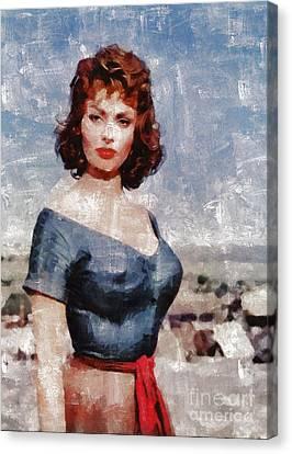 Sophia Loren By Mary Bassett Canvas Print
