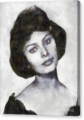 Sophia Loren By Sarah Kirk Canvas Print