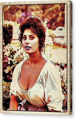 Sophia Loren Pop Art Canvas Print