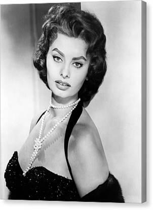 Sophia Loren, Portrait Circa 1957 Canvas Print by Everett