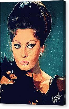 Sophia Loren Canvas Print by Taylan Apukovska