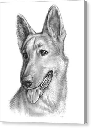 German Shepherd Canvas Print - Sophie by Greg Joens