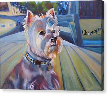 Sophie The Westie Canvas Print by Kaytee Esser
