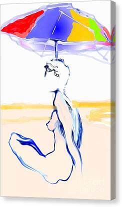 Sophi's Umbrella #2 - Female Nude Canvas Print