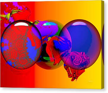 Canvas Print featuring the digital art Sophistacated Lady by Robert Orinski