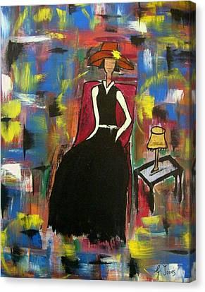 Sophisticared Lady Canvas Print by Glenda  Jones