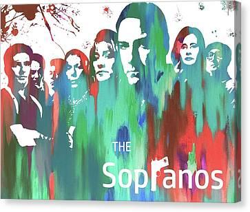Sopranos Paint Poster Canvas Print