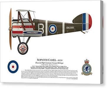 Sopwith Camel - B6299 - Side Profile View Canvas Print