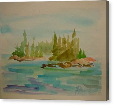 Canvas Print featuring the painting Sorrento Islands by Francine Frank