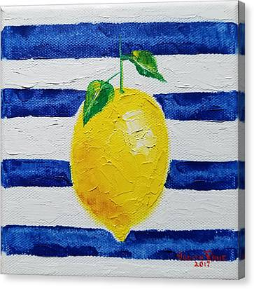 Canvas Print featuring the painting Sorrento Lemon by Judith Rhue
