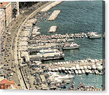 Canvas Print featuring the photograph Sorrento's Harbor, Italy by Merton Allen