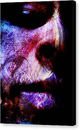 Counter-culture Canvas Print - Sorrowful Eyes by Bear Welch