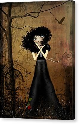 Goth Girl Canvas Print - Sorry by Charlene Zatloukal