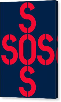 Sos Save Our Souls Canvas Print by Three Dots
