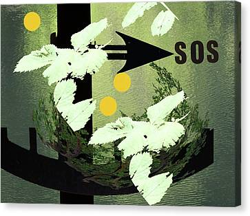 Sos Two Canvas Print by Lyn Perry
