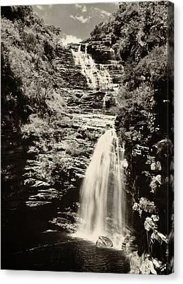 Sossego Waterfall Canvas Print by Amarildo Correa