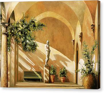Canvas Print - Sotto Il Portico by Guido Borelli
