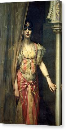 Soudja Sari Canvas Print by Gaston Casimir Saint Pierre