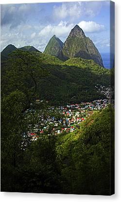 Soufriere Village- St Lucia Canvas Print