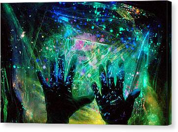 Canvas Print featuring the photograph Soul Of An Artist Experimental Light Photography by David Mckinney