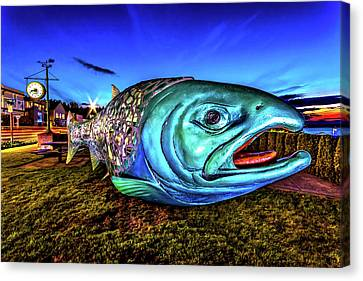 Soul Salmon During Blue Hour Canvas Print by Rob Green