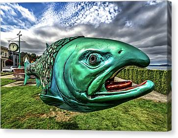 Soul Salmon In Hdr Canvas Print by Rob Green