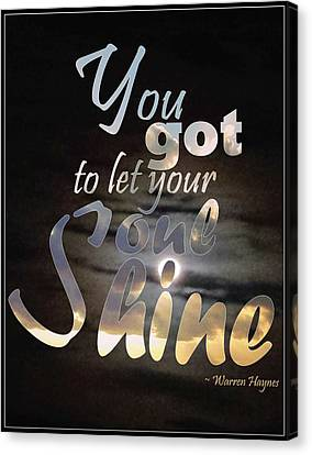 Soul Shine Canvas Print by Thomasina Durkay