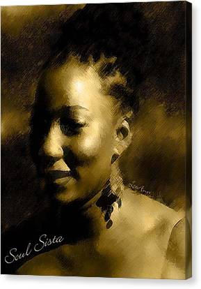 Soul Sista Canvas Print by LeeAnn Alexander