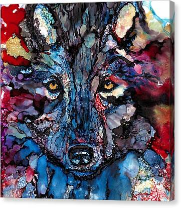 Soulful Wolf Canvas Print by Jane Marlin
