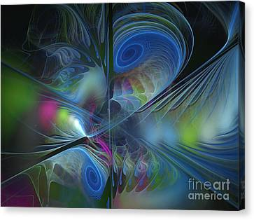 Sound And Smoke Canvas Print by Karin Kuhlmann
