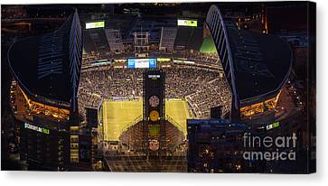 Sounders Match At Century Field Canvas Print
