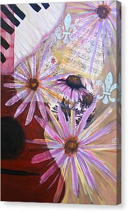 Sounds Like Flowers Canvas Print by Christina Fajardo
