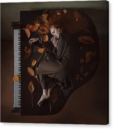 Sounds Of Autumn Canvas Print by Anka Zhuravleva
