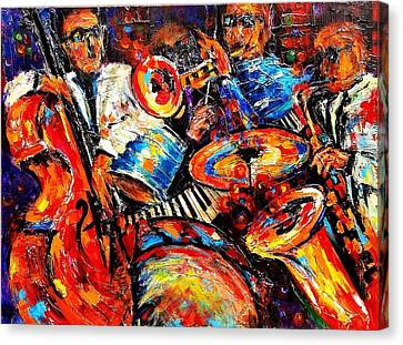 Sounds Of Jazz Canvas Print
