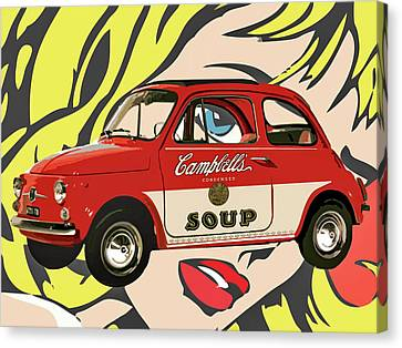 Pop Car Canvas Print