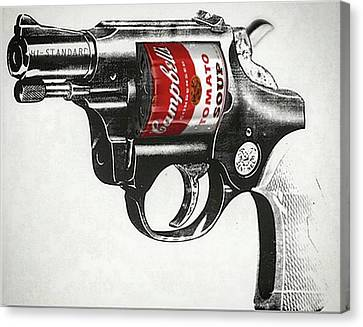 Soup Gun Canvas Print
