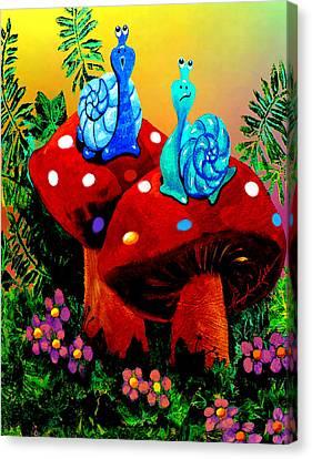 Soupy Snails Canvas Print by Hanne Lore Koehler