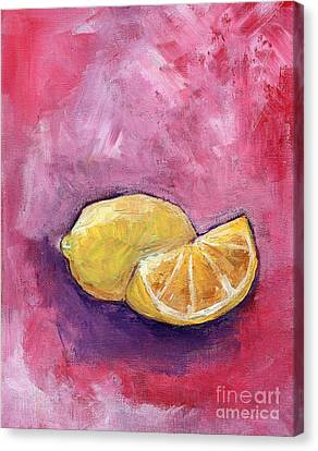 Sour Lemons Canvas Print by Anne Seay
