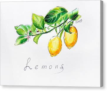 Sour Lemons Canvas Print by Viktoriya Lavtsevich