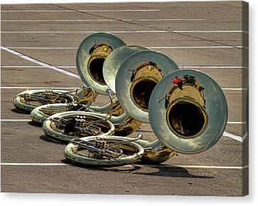 Marching Band Canvas Print - Sousaphone Quartet by David and Carol Kelly