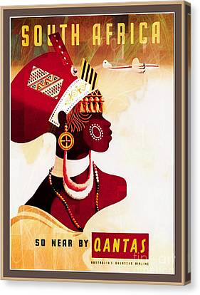 South Africa - 1950 Travel Poster Canvas Print by Ian Gledhill