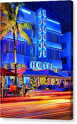 South Beach Art Deco Canvas Print by Dennis Cox WorldViews