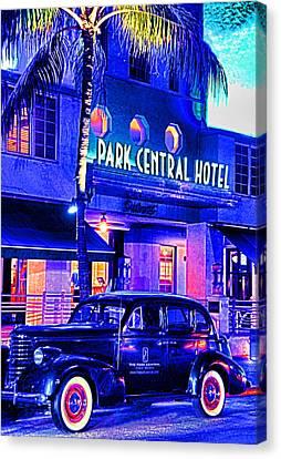 South Beach Hotel Canvas Print by Dennis Cox WorldViews